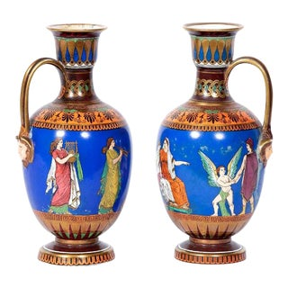 19th Century Antique Samuel Alcock Vases - a Pair For Sale