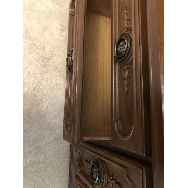 Metal 19th Century French Mahogany Style Cabinet Hutch For Sale - Image 7 of 13