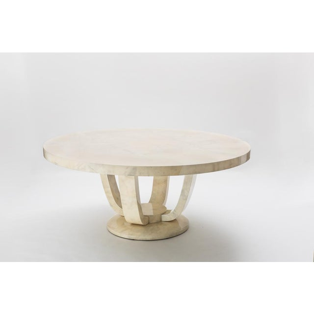 2010s Monumental Goatskin Dining Table, Usa For Sale - Image 5 of 5