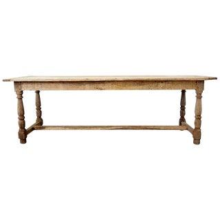 19th Century Country French Oak Farmhouse Trestle Table