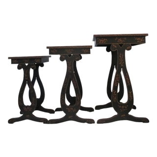 Chinoiserie Style Nesting Tables - Set of 3