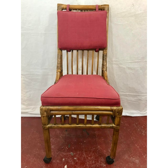 Bamboo Dining Chairs Set of 8 For Sale - Image 12 of 13