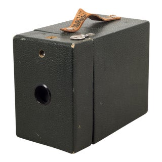 Antique Leather Box Camera C.1920 For Sale