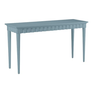 Casa Cosima Flutter Console, Chiswell Blue For Sale