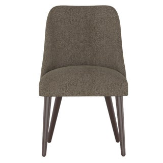 Rounded Back Dining Chair in Aiden Sterling For Sale