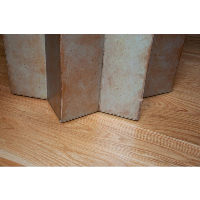 1960s Henredon Leather Star Side Table For Sale - Image 5 of 6