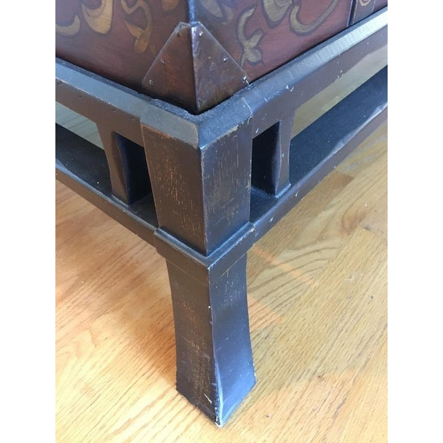 Contemporary Painted Wood Trunk Style Coffee Table - Image 6 of 7