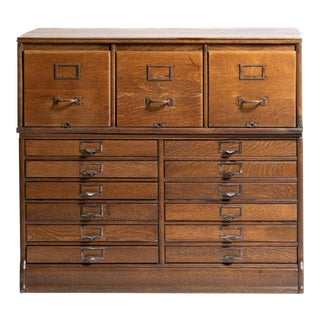 1900s Rustic Century Yawman & Erbe Stacking Filing Cabinet For Sale