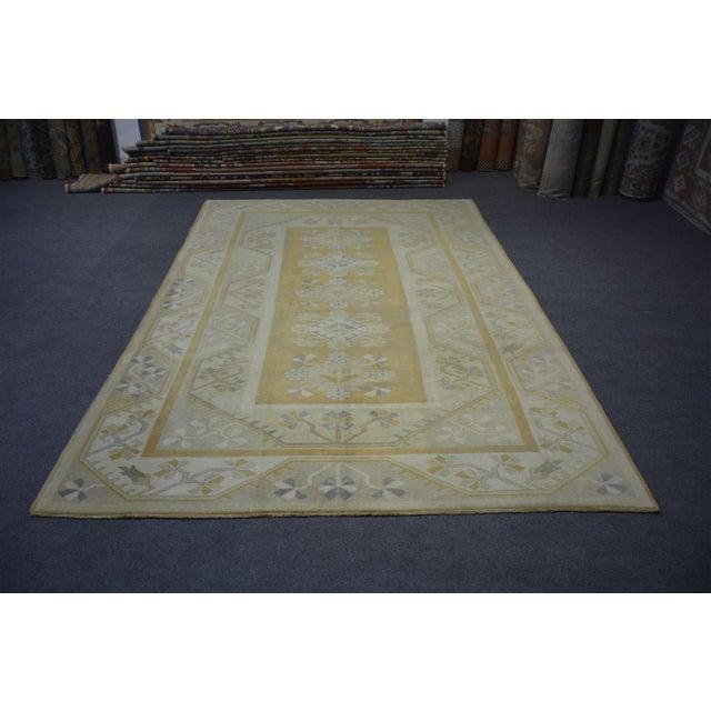 Textile Vintage Turkish Rug - 6'6″x9'7″ For Sale - Image 7 of 7