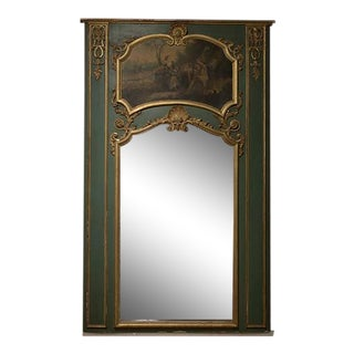19th Century French Trumeau Mirror For Sale
