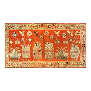 """Pasargad Antique Khotan Hand Knotted Wool Rug - 5'4"""" X 9'10"""" For Sale"""