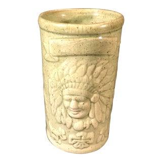 Vintage Native American Ceramic Mug