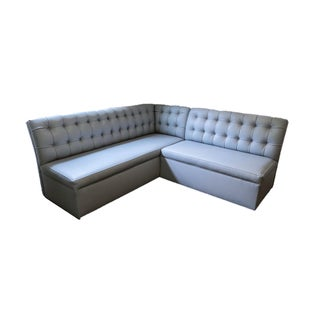 21st Century Custom Pearson Leather-Like Vinyl Banquette Seating For Sale