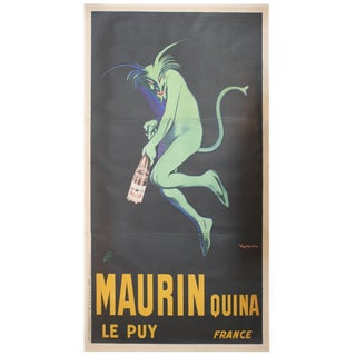 Large Original French Poster Maurin Quina Ley Puy For Sale