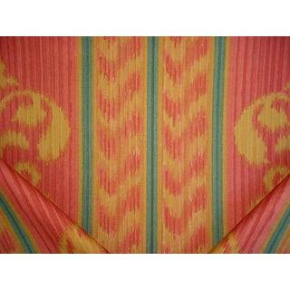 Art Nouveau Andrew Martin AM-Titan Titan Wine Scroll Ikat Cotton Print Upholstery Fabric - 3y For Sale