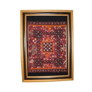 Vintage Middle Eastern Tapestry, Framed For Sale