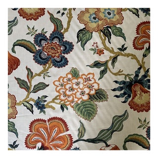 Hothouse Flowers by Celerie Kemble for Schumacher Linen Fabric- 2 Yards For Sale