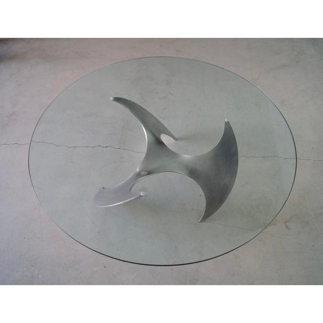 Silver 1960s Danish Modern Knut Hesterberg Propeller Coffee Table For Sale - Image 8 of 13