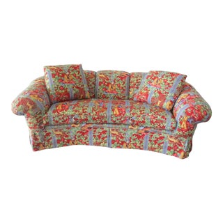 Baker Custom Chinoiserie Print Sofa-New & Scotchguarded! For Sale