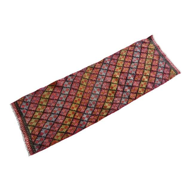 Masterwork Hand-Woven Rug Braided Small Kilim 1′6″ × 4′5″ For Sale