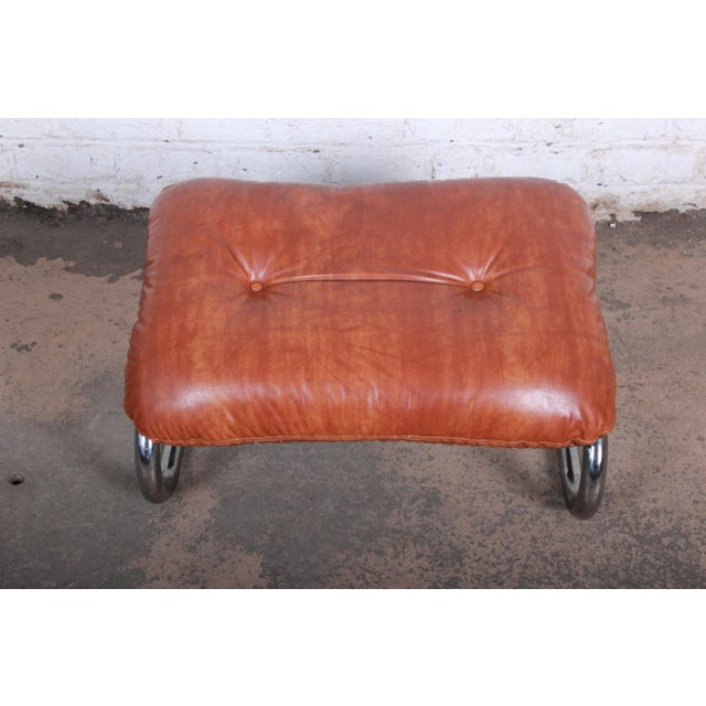 Milo Baughman for Directional Mid-Century Modern Lounge Chair and Ottoman, 1970s For Sale - Image 10 of 13