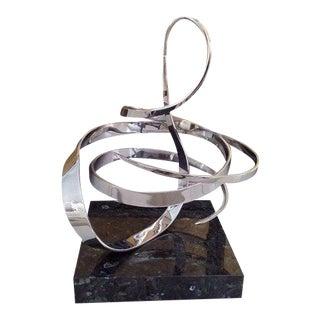 1990s Vintage Modernist Kinetic Sculpture on Granite Base by George Beckman For Sale