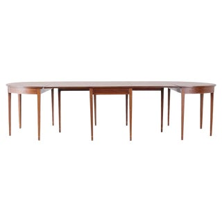 American Hepplewhite Style Mahogany Banquet Dining Table For Sale