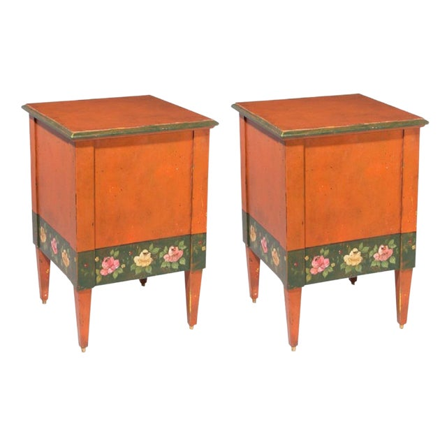 Italian Hand-Painted Flower Boxes - A Pair - Image 1 of 8