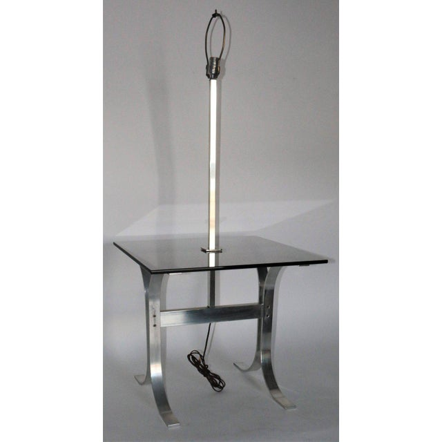 Mid 20th Century Mid-Century Modern Side Table With Built in Lamp For Sale - Image 5 of 8