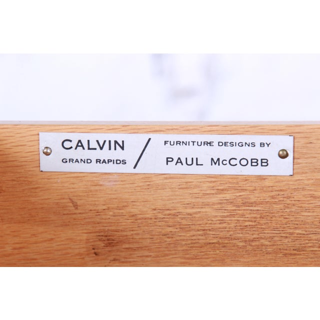 Paul McCobb for Calvin Mahogany and Brass Sideboard Credenza For Sale - Image 12 of 13