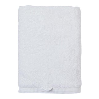 Cumulus Terry Bath Towel in White For Sale