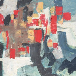 Renn Zaphiropoulos Abstract in Scarlet & Gray, 1964 Preview