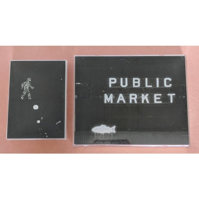 Minimalism Set of 2 Framed Black and White Images of Seattle Wa For Sale - Image 3 of 3