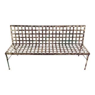 Iron Lattice Weave Bench