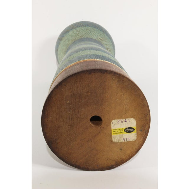 Bitossi for Raymor Walnut Base Vase For Sale In New York - Image 6 of 6