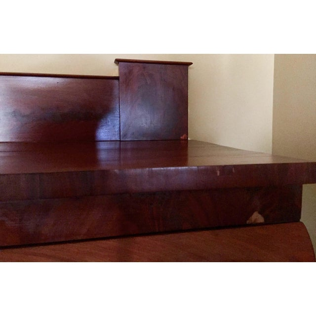 Antique Empire Style Mahogany Veneer Sideboard - Image 5 of 8