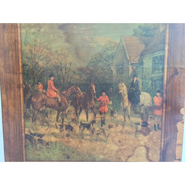 Vintage Riding Scene Card Table - Image 4 of 4