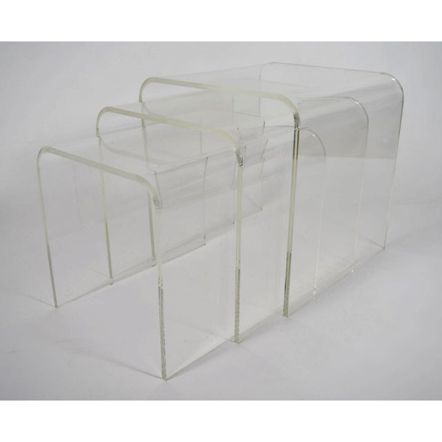 Set of Three Lucite Nesting Tables - Image 7 of 7