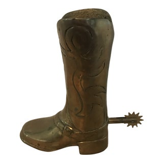 Vintage Brass Boot With Movable Spur For Sale