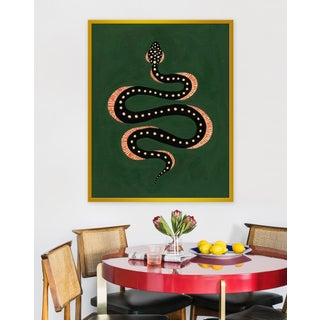"Large ""Apple the Snake"" Print by Willa Heart, 32"" X 40"" Preview"