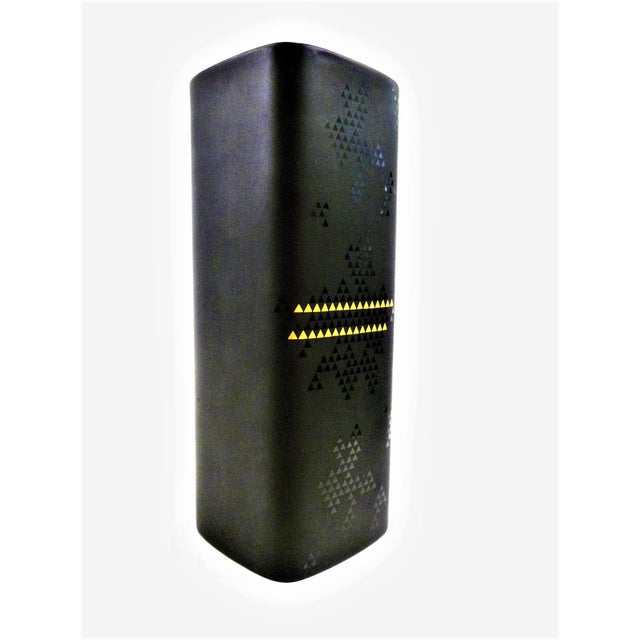 1960s Modern Tapio Wirkkala Porcelaine Noire Vessel for Rosenthal in Matte Black and Gold For Sale - Image 12 of 12