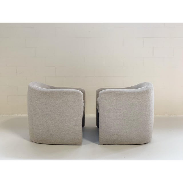 Preview Preview Modernist Lounge Chairs Restored in Loro Piana Alpaca Wool Fabric - Pair For Sale - Image 4 of 8