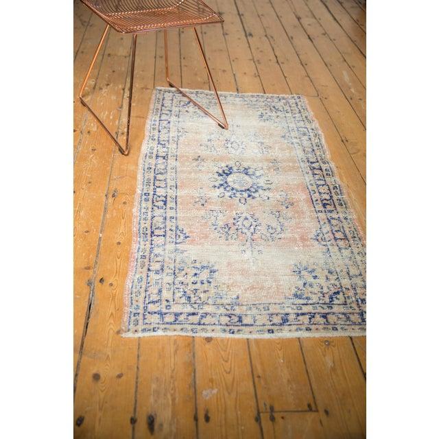 "Vintage Distressed Oushak Rug Runner - 2'7"" X 4'9"" For Sale - Image 10 of 12"