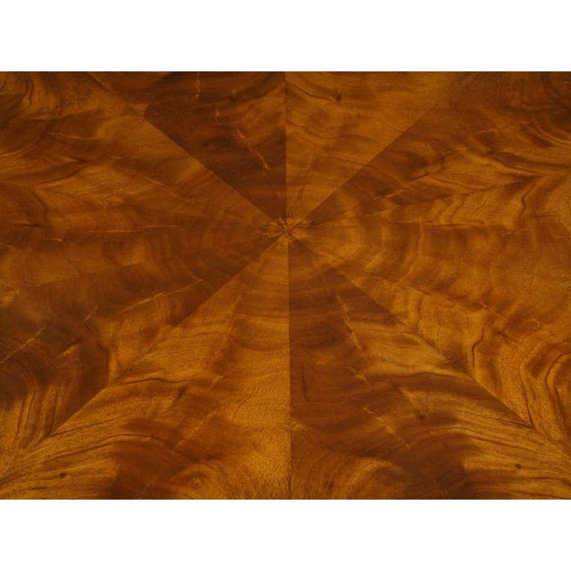 John Widdicomb Regency Center Table With Crotch Mahogany Parquetry Top For Sale - Image 9 of 11