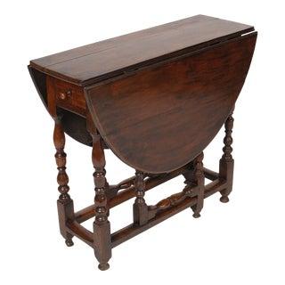 English Walnut Gate Leg Table For Sale