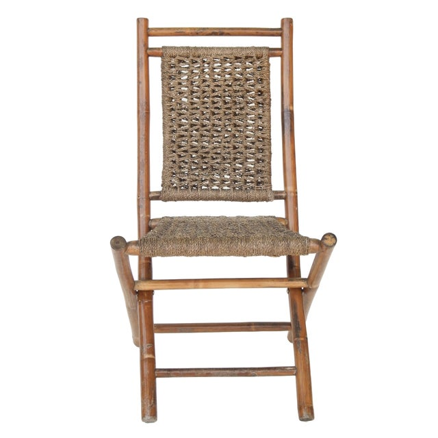 Folding Bamboo Chairs For Sale - Image 4 of 11