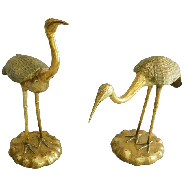 Vintage French Bronze Cranes - A Pair - Image 2 of 4