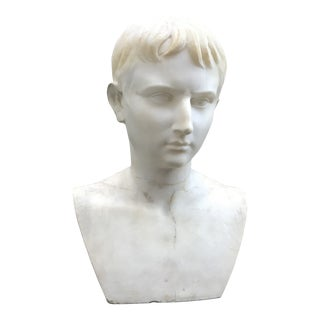 19th Century Marble Bust of Octavius Sculpture