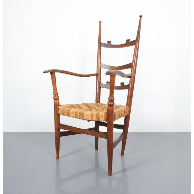 Armchair Attributed to Paolo Buffa, Possible Made by Marelli, Circa 1948 For Sale - Image 10 of 13