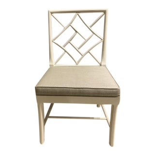 "Hickory Fretwork ""Dove White"" Maple Accent Chair"